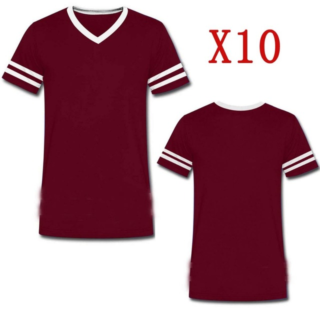 LAUKEXIN USA Big and Tall Maroon Red Custom 10 Pack T Shirts With Your  Personalized Text Logo Shirts Wholesale 10 5 Pack T-Shirt eb6a4216d139
