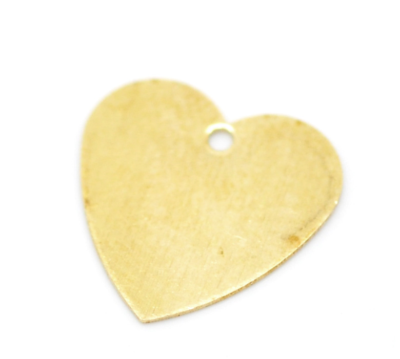 Doreenbeads Pendants Earrings Bracelets Necklaces Blank Stamping-Tags Brass Heart 100pcs
