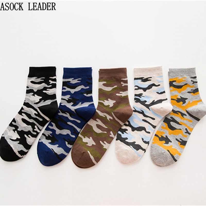 5 Pairs Men Socks 2018 NEW Spring & Autumarmy Soldiers Style Cotton Mens Socks High Quality Camouflage Socks For Men