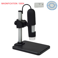 New 500X 1000X USB Digital Microscope 8 LEDs Adjustable High resolution mikroskop camera microscopio digital para electronica
