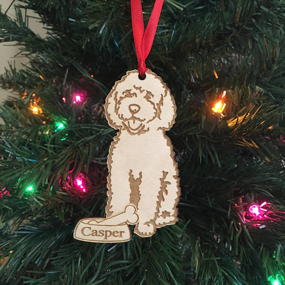 personalized dog ornament dog lover gift goldendoodle ornament christmas holiday ornament