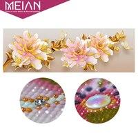 Meian Special Diamond Embroidery Full DIY Diamond Painting Peony Flowers Cross Stitch Diamond Mosaic Bead Picture
