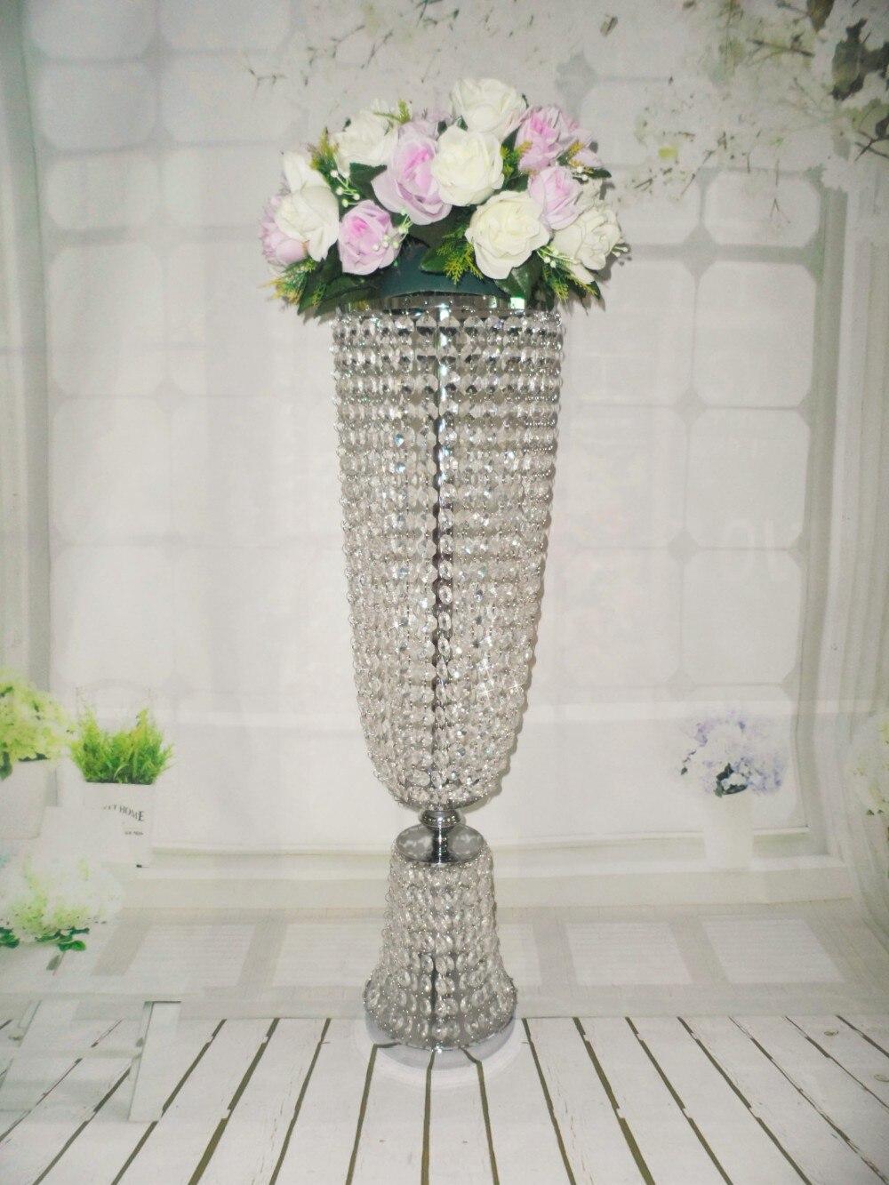 10pcs/lots 80cm tall /20cm diameter crystal wedding centerpice ...