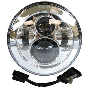 """Image 3 - פנס עבור אוניברסלי אופנוע חלקי 7 """"LED מנוע פנס 4.5"""" 4 1/2 אינץ עובר אור להארלי סיור softail קלאסי"""