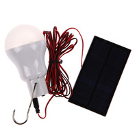 Portable Solar Power LED Bulb Lamp 0 8W 5V 150 Lumens Outdoor Camping Tent Fishing Lamp