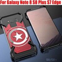 Fashion Cool US Captain Aluminum Metal Case For Galaxy Note 8 S8 Plus S7 Edge Back