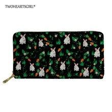 Twoheartsgirl Wallet Women Cute Rabbit Zipper Purse