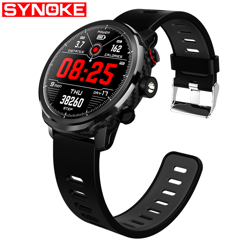 SYNOKE Sport montre intelligente hommes montre LED hommes montre étanche hommes montres numériques Relogio Masculino Android IOS montres