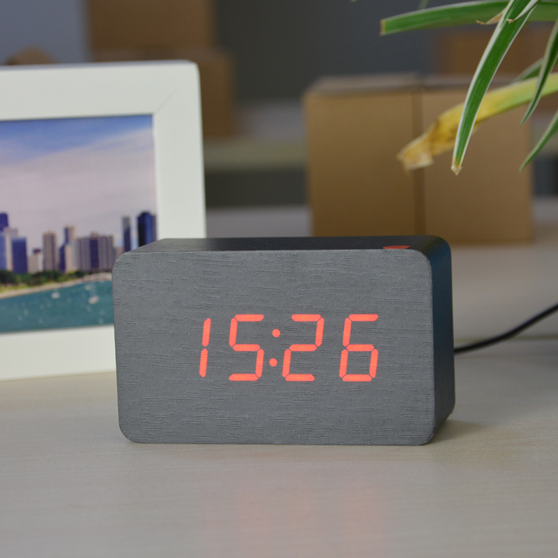 ... FiBiSonic 2017 New Designer Thermometer LED Digital Clock, Sounds  Control Alarm Clocks,Desktop Table ...