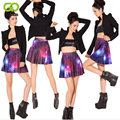 GOPLUS New 2017 Summer Fashion Ladies Pleated Skirts Galaxy Starry Night SKIRT Printed Skynight Skirts Free Shipping C1135