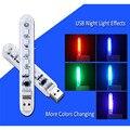 Светодиодный Ночной светильник мини USB книга светильник s 5 светодиодов Портативный книга светильник RGB 5050 5V для ПК ноутбук компьютер мобиль...