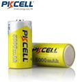 2 шт * PKCELL Ni-MH 5000mAh 1,2 V батареи C размер перезаряжаемая батарея - фото