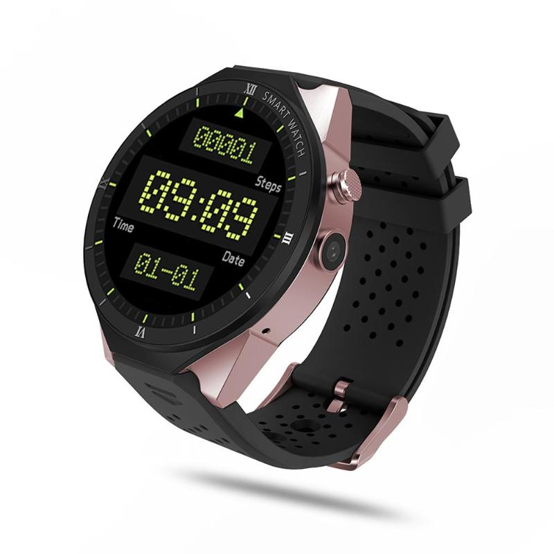 ALLOYSEED KW88 Pro Android 7.0 1GB+16GB Heart Rate 2MP Camera 3G WIFI GPS Smart Watch alloyseed dm99 smartwatch android 5 1 2 2in 1gb 16gb quad core heart rate 3g calling wifi bluetooth gps 1 3mp camera smart watch