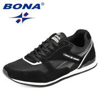 BONA 2018 New Breathable Men and Women Sneakers Unisex Outdoor Sports Running Shoes Gym Hard Wearing Femme Athletic Shoes