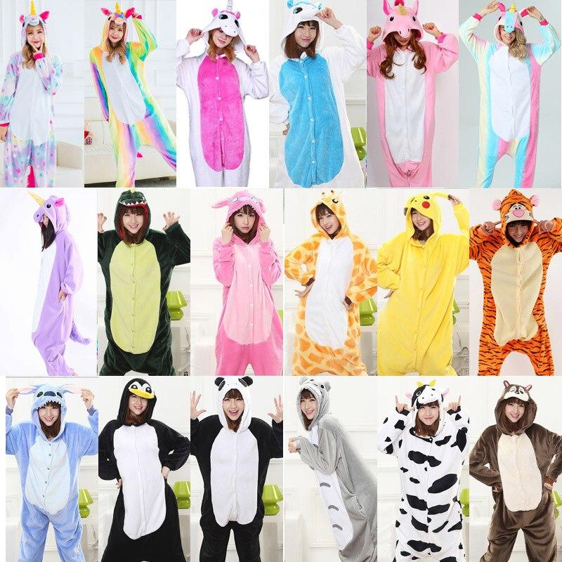 Women Warm pajamas unicornio Sleepwear Adult Winter Couple Pajamas Unicorn Animals pajamas pyjama femme pijama licorne onesis
