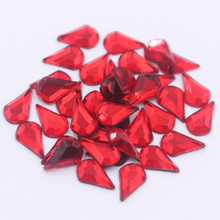 2017 Clear Crystal 5x8mm 260pcs/lot Water Drop Hot Fix Rhinestone Flatback Strass Hotfix Trim for Dresses Bags