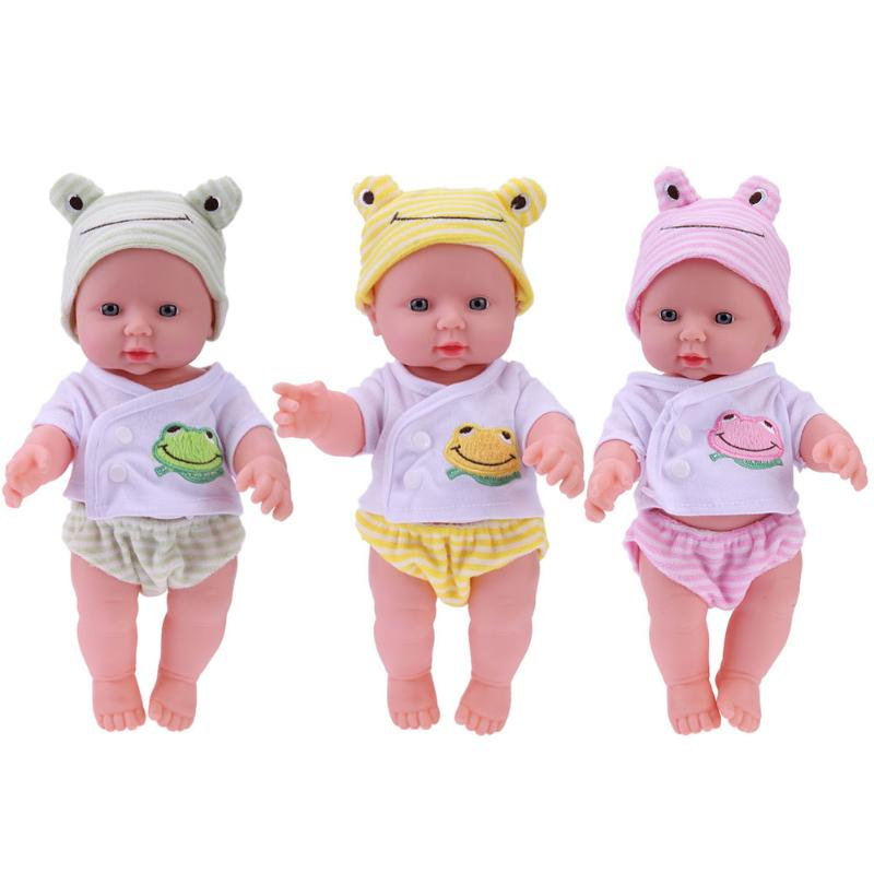 30cm Newborn Baby Doll Toy Soft Vinyl Silicone Lifelike Babies Simulation Doll Toys for Kids Girls Birthday Gift Educational Toy newborn simulation babydoll silicone vinyl doll educational enlightenment baby toys girls present