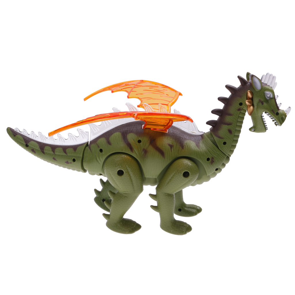 Electric Toy Robot Sound Dinosaur w/ Wings Light Jurassic