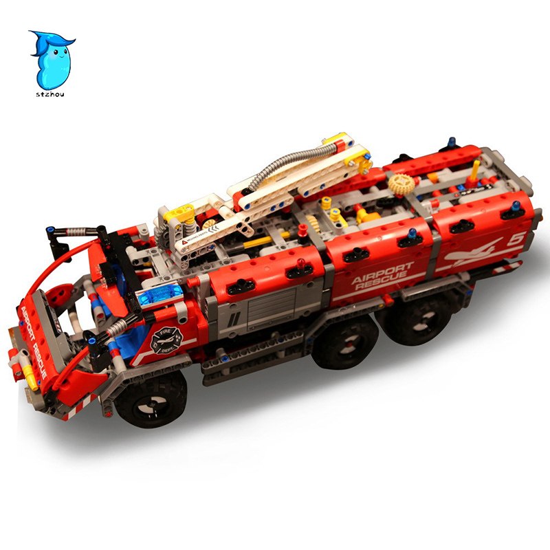 StZhou 1180pcs Lepin City Mechanical Fire Accident the Rescue Vehicle Building Blocks Bricks Children Birthday Toys Technic the rescue