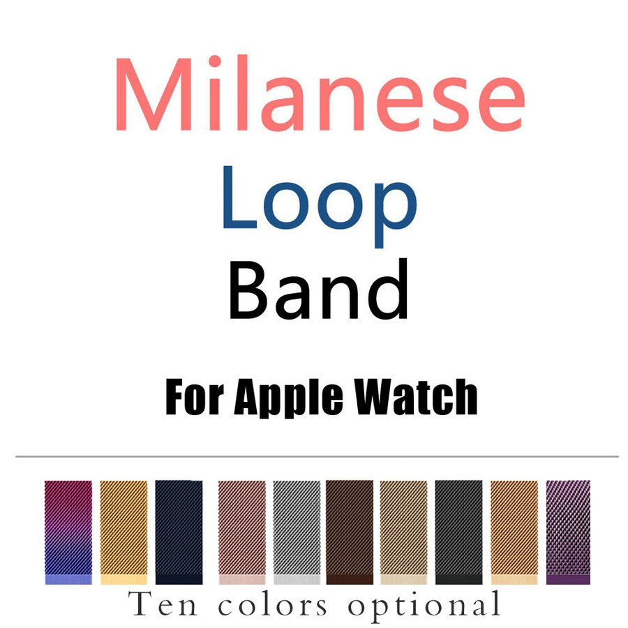 Joyozy Milanese Loop Band for Apple Watch 38/42mm Series 1/2/3 Stainless Steel Strap Belt Metal Wristwatch Bracelet Replacement