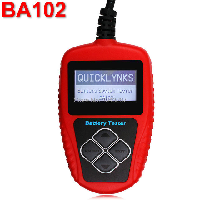 BA102 12V motorcycle battery tester QUICKLYNKS BA102 Motorcycle Battery Tester Tool BA 102 Battery Analyzer Free Shipping