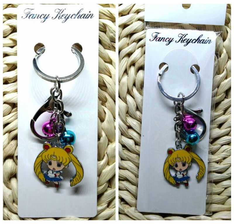 Sailor Moon 1pcs Keychain Cute Key Ring Cover Holder