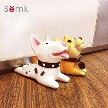Semk Cute Cartoon Terrier Dog Design Dörrstopp Dörrstopp Säkerhet för Baby Guard Dog Anime Protector Figurer Leksak för barn