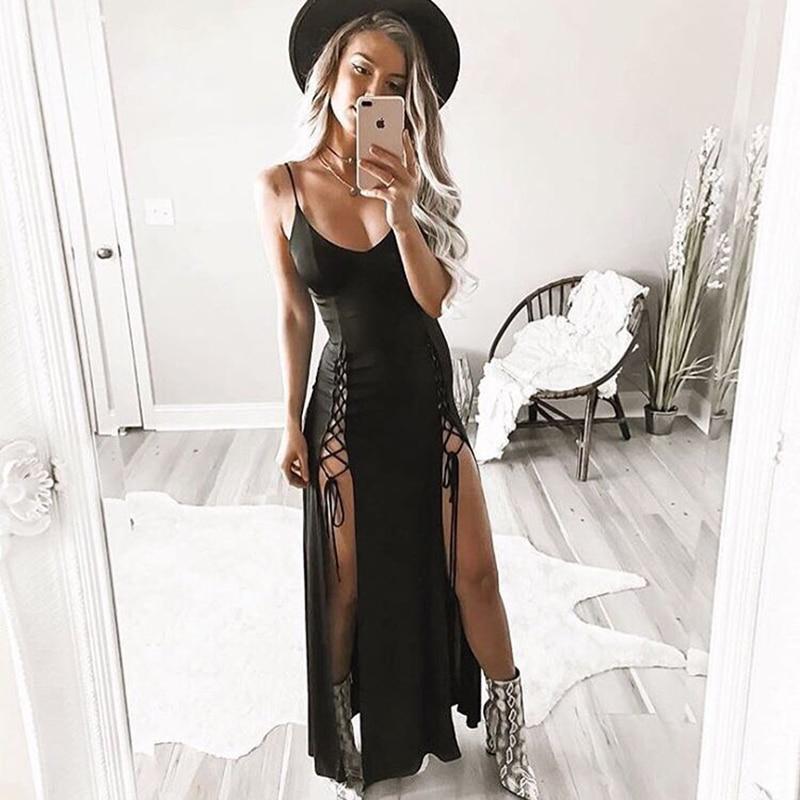 Ybenlow Summer Sext Dresses 2017 New Split Bandage Sexy -7453