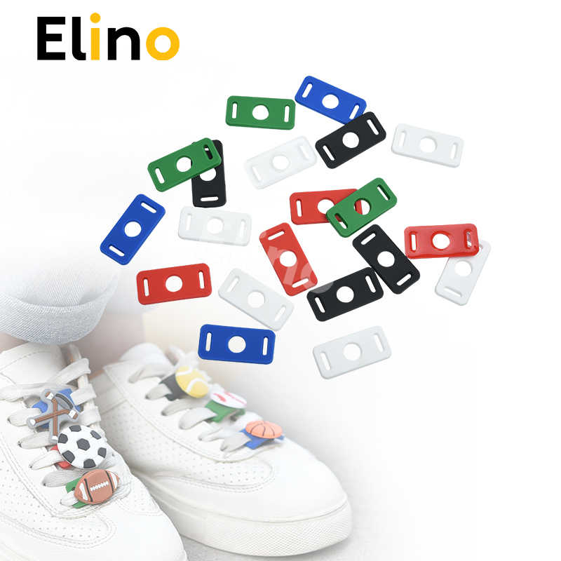 Elino 50pcs/lot PVC Shoelace Buckle Charms, Shoe Lace Adapter Gifts for Children Girls Cute Shoelace Decorations Wholesale