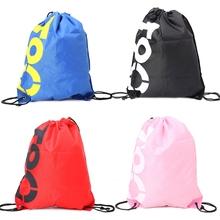 THINKTHENDO Fashion New Men Women Backpack Shopping Drawstring Bags Waterproof Travel Beach Shoes Pack