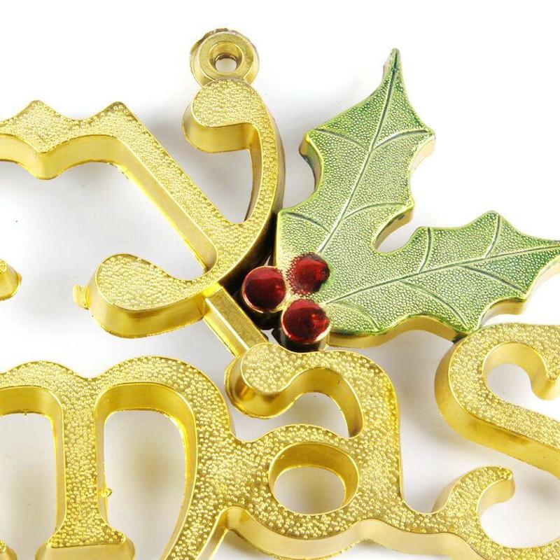 Merry Christmas letter door hanging 3D strap shop glass door decorative tree Pendant