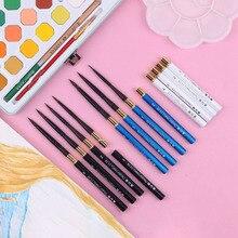 Brosse à aquarelle, ensemble de stylos de voyage en tête ronde, pour cheveux danimaux, accessoire de gouache, portable, pour lextérieur, art professionnel