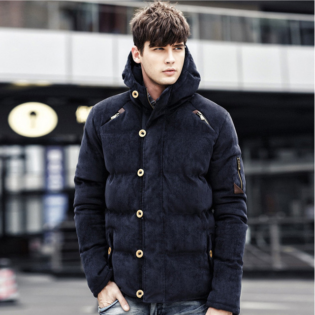 Winter Jacket Cotton Padded Windproof Thick Warm Soft Hooded Down Parkas