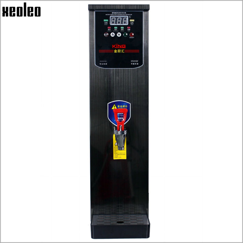 Xeoleo 20L Hot Water dispenser Commercial Hot Water machine 60L/H Black Stainless steel Water boiler for bubble tea shop 3000W все цены