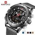 Мужские часы NAVIFORCE 9153  спортивные  армейские  водонепроницаемые  с секундомером