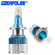 2PCS Car H7 LED Headlight Bulbs H11 H1 H4 H8 H9 H10 9005 9006 HB4 HB3 LED H16 Mini Size 6000K 12000LM auto Lamp(China)