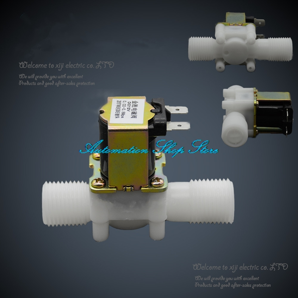 Wasser Ventil No/nc Einlass Wasser Ventil/ablauf Wasser Ventil Wasserdicht StoßFest Und Antimagnetisch 1/2 kunststoff Magnetventil 12 V 24 V 220 V