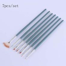 1Pc Nail Art UV Gel Brush Pen With Cap Pink NO.6 Manicure Tool