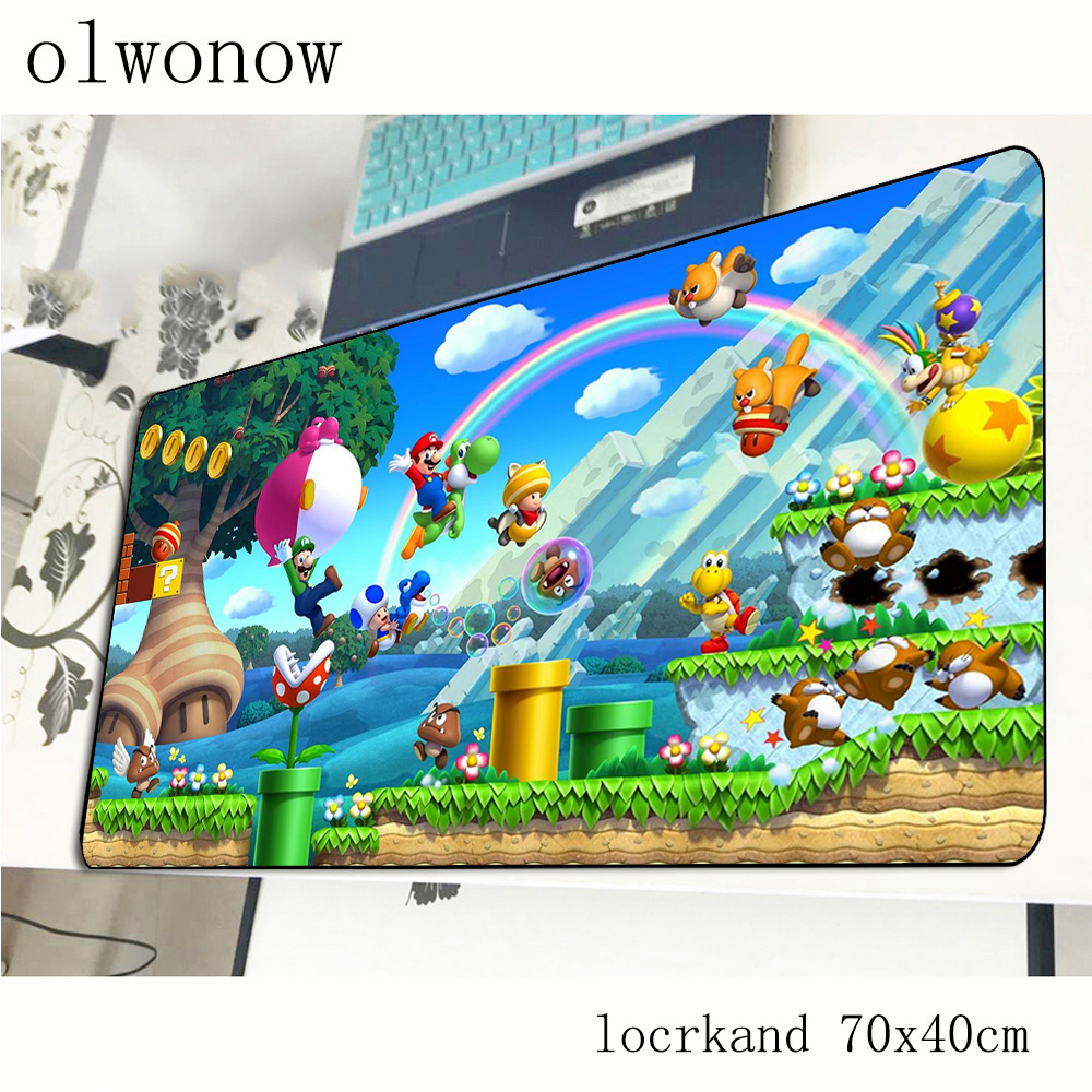 Mario Mouse Pad 70x40cm Cute Mousepads Best Gaming Mousepad Gamer Hot Sales Large Personalized Mouse Pads Keyboard Pc Pad