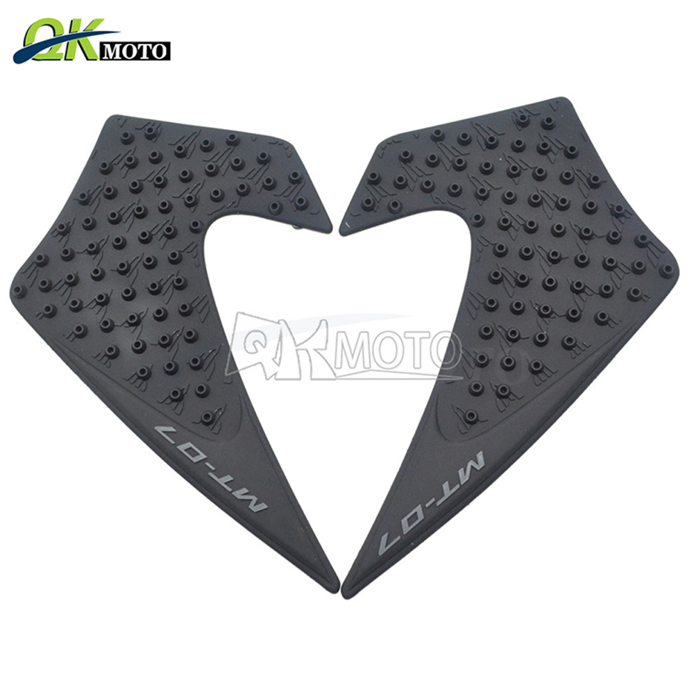 100% Kwaliteit Anti Slip Sticker 3d Motorfiets Tank Traction Pad Side Knee Grip Protector Voor Yamaha Mt07 Mt-07 2013 2014 2015 2016 2013-2016