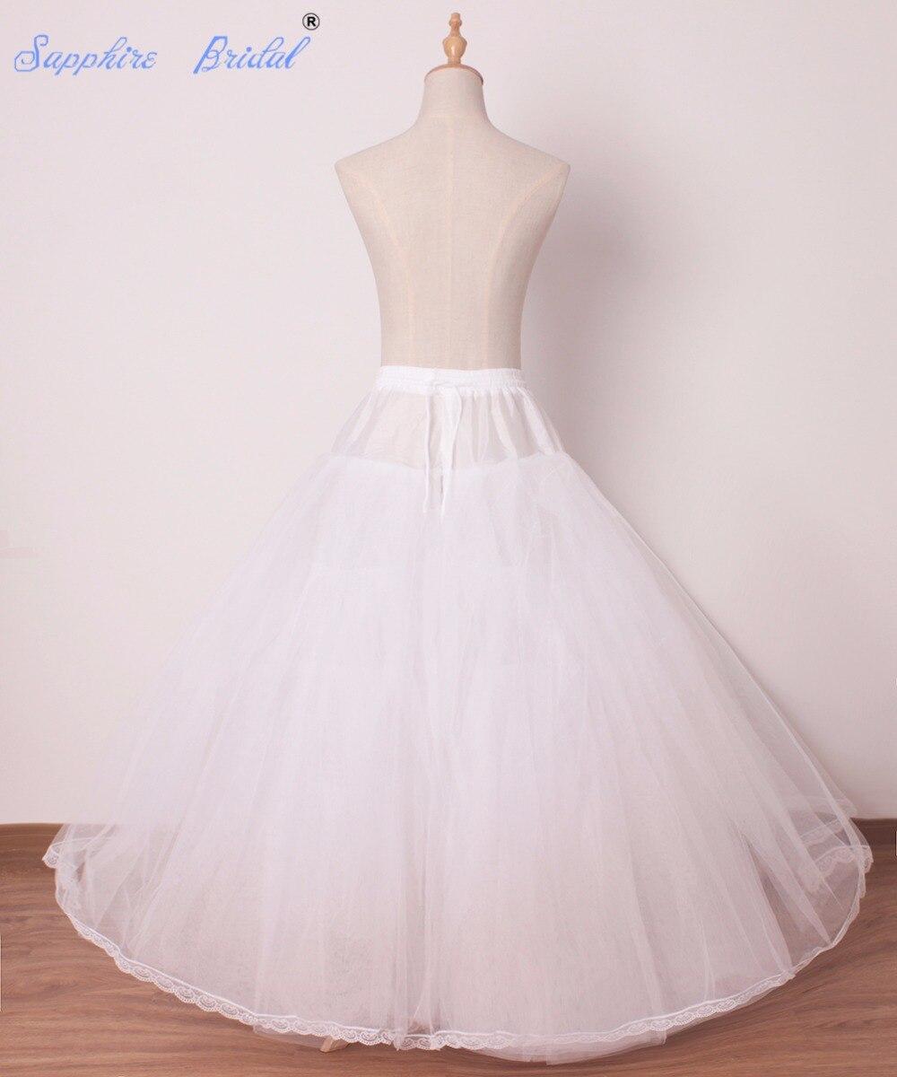 Sapphire Bridal Womens Hoopless Bridal Crinoline Petticoat For Ball ...