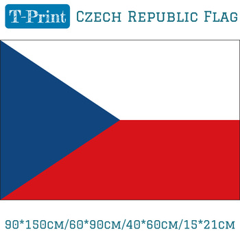 90*150cm/60*90cm/40*60cm/15*21cm Czech Republic Polyester National Flag For Olympic Games image