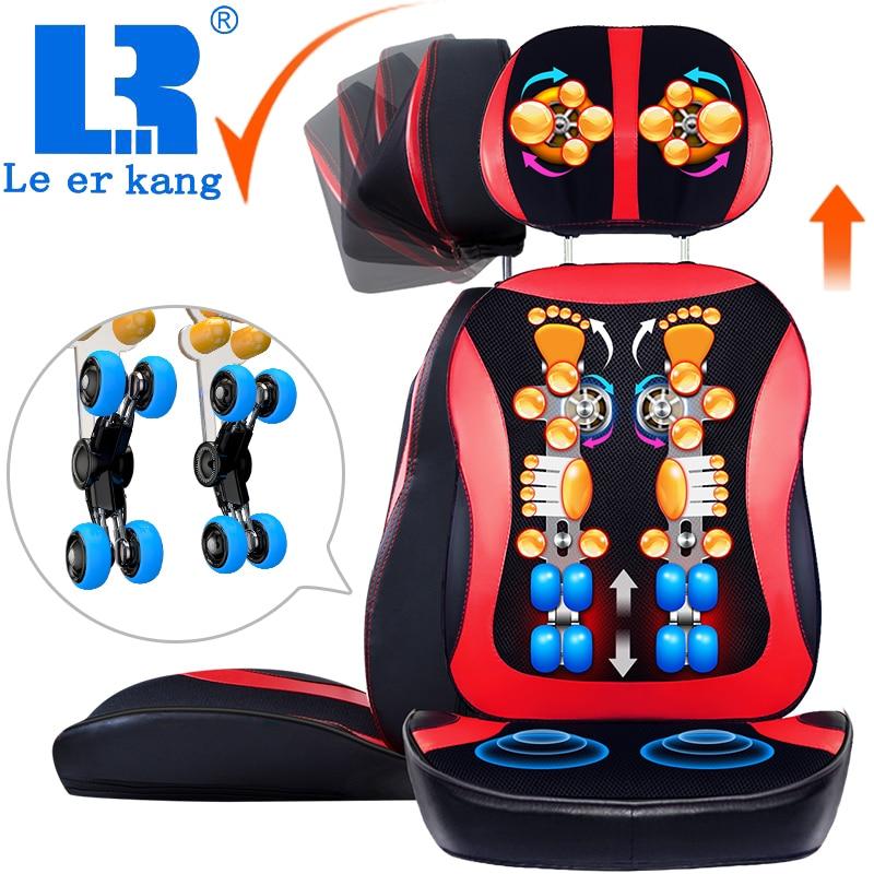 LEK918 special sale antistress neck massage cushion full body Shiatsu massage chair compresses vibration kneading back massager action figure pokemon