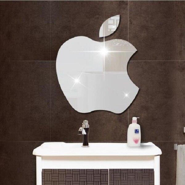 Mirror Wall Stickers Gold Silver Le Sticker And White Bathroom Decor