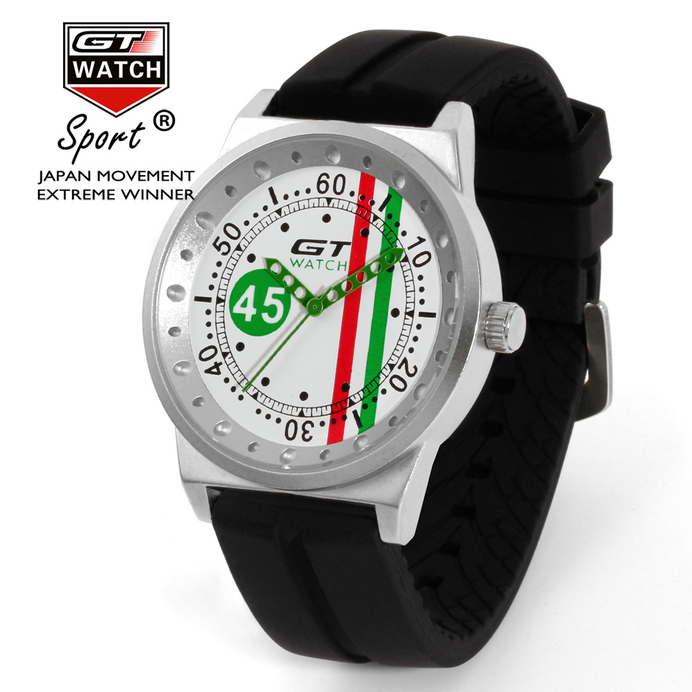 for chrono invicta racing pin green swiss men s strap auto touring watches