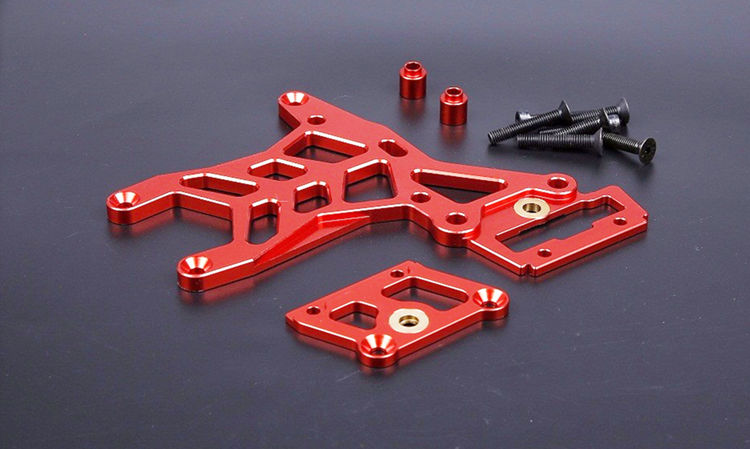 цена на BAJA CNC Alloy Rear Upper Connecting Plate Set for 1/5 HPI ROVAN KM BAJA 5B 5T 5SC Rc Gas Parts