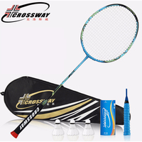 Kawasaki Powerful Training Badminton Racket Carbon Badminton Racquet With String Original Bag Badminton Racket Sport Equipment