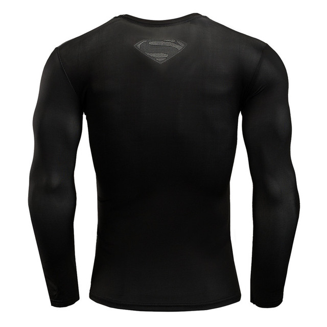 Hot Sale Fitness MMA Compression Shirt Men Anime Bodybuilding Long Sleeve Crossfit 3D Superman Punisher T