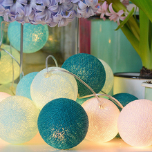 Lights Lighting - Outdoor Lighting - POTENCO 3M 20LED Colorful Cotton Ball Light Led String Lights Street Garland Fairy Lights Wedding Party Supplies Kerst Decoratie