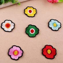 6 Colors Flower Patchwork Patch Embroidered Patches For Clothing Iron On Close Shoes Bags Badges Embroidery